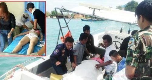 中国女游客泰国沙美岛